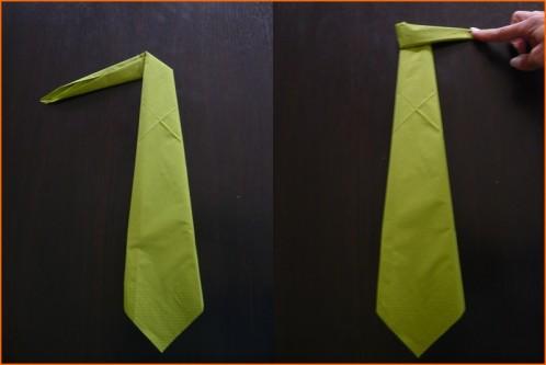 Pliage de serviette cravate