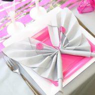 Pliage de serviette en papier facile papillon