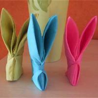 Pliage de serviette en papier lapin