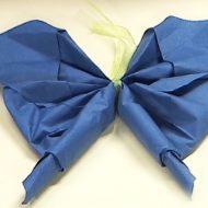 Pliage de serviette forme papillon