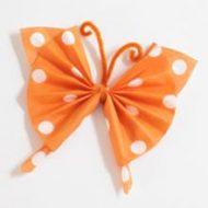 Pliage de serviette papier papillon