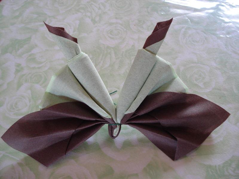 Pliage de serviette papillon
