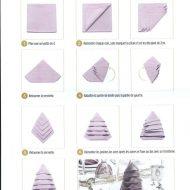 Pliage de serviette sapin