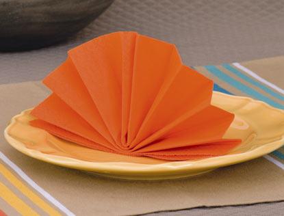 Pliage des serviettes de table en papier