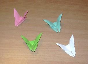 Pliage en papier papillon
