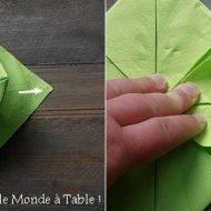 Pliage fleur serviette papier