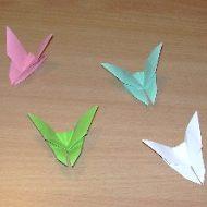 Pliage papillon en papier