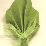 Pliage serviette en feuille
