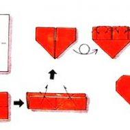 Pliage serviette en forme de coeur
