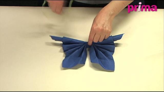 Pliage serviette papier facile papillon