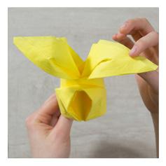 Pliage serviette papier lapin