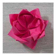 Pliage serviette papier lotus