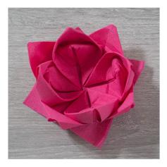 Pliage serviette papier lotus