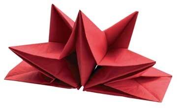 Pliage serviette papier noel