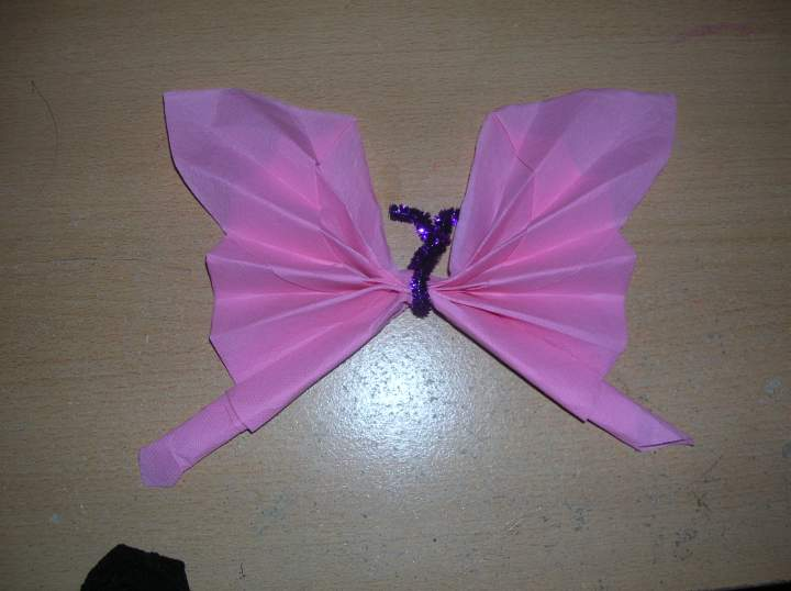 Pliage serviette papier papillon for Pliage serviette noeud papillon