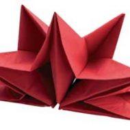 Pliage serviette papier pour noel