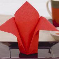 Pliages des serviettes en papier