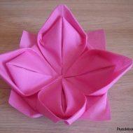 Serviette en papier pliage facile