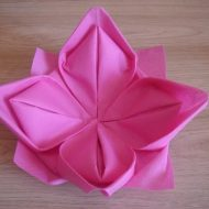 Video pliage serviette lotus