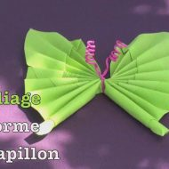 Video pliage serviette papillon