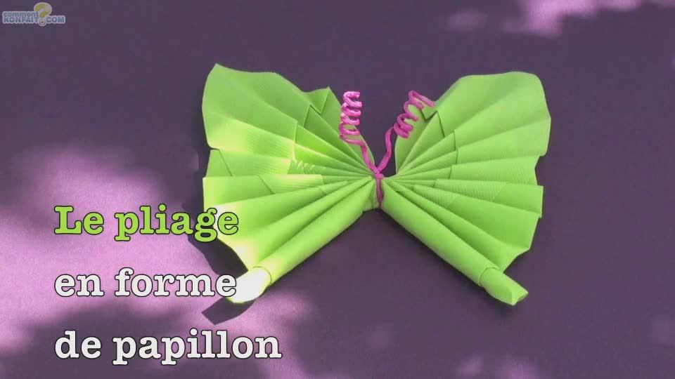 Video pliage serviette papillon